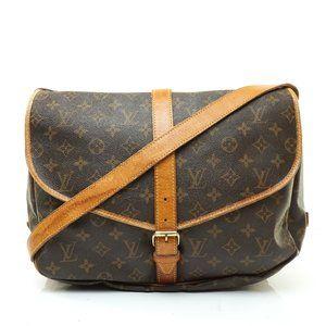 Auth Louis Vuitton Saumur 35 Crossbody #8185L29